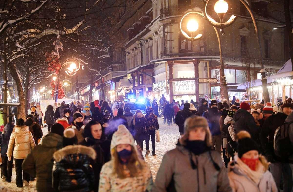 Wieder sind viele Menschen nach Zakopane gereist. Foto: dpa/Grzegorz Momot