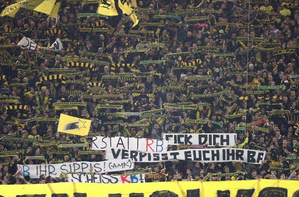 Das Spiel des BVB gegen Leipzig wurde von Fangewalt überschattet. Foto: Bongarts