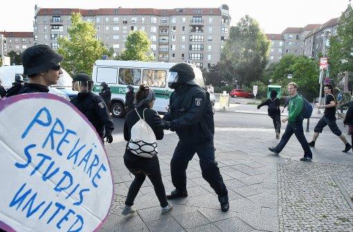 Erste vorläufige Festnahmen bei Demonstrationen