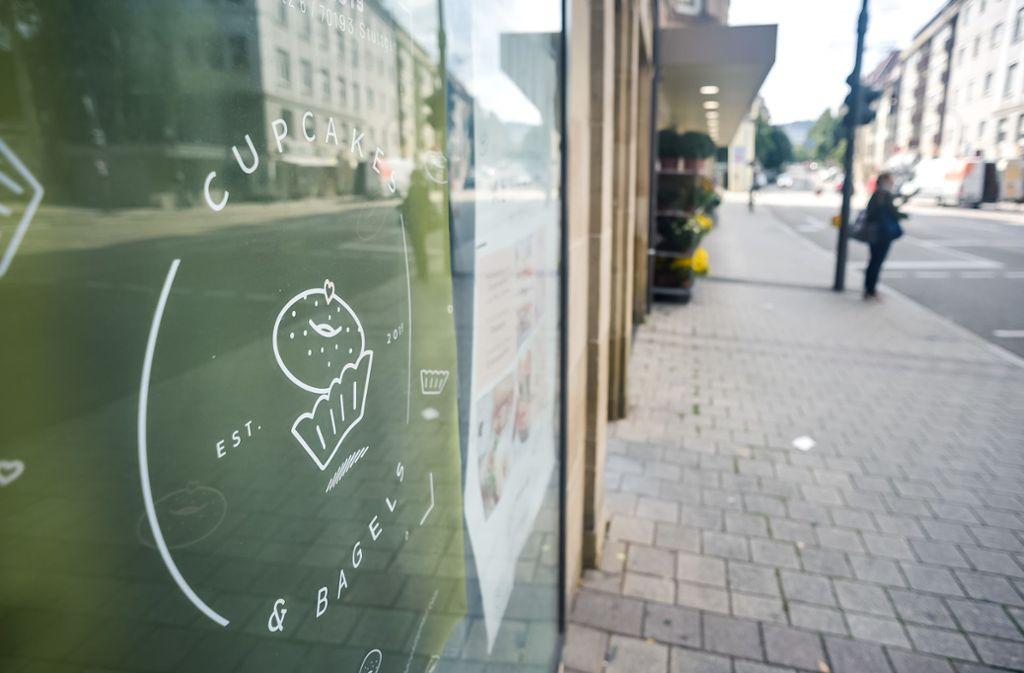 Der Cupcake-Laden am Hölderlinplatz kann vorerst nicht eröffnet werden – es fehlt die Nutzungserlaubnis als Café. Foto: Lichtgut/Max Kovalenko