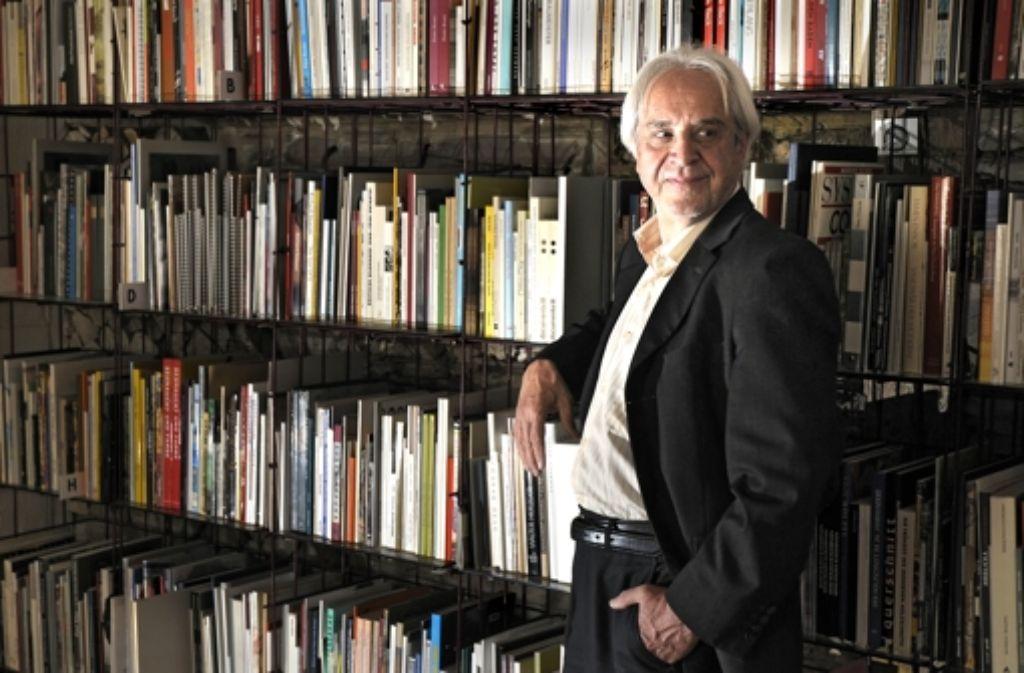 Der bibliophile Kunsthistoriker nach einem Interview Foto: Stoppel/Archiv