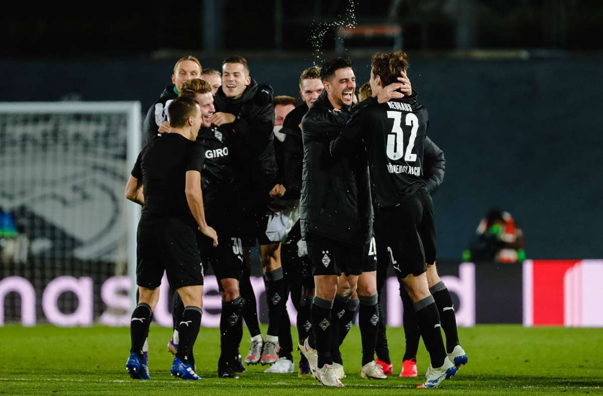 Gladbachs Achtelfinal-Hinspiel in der Champions League wird in der ungarischen Hauptstadt ausgetragen (Archivbild). Foto: imago images/Revierfoto