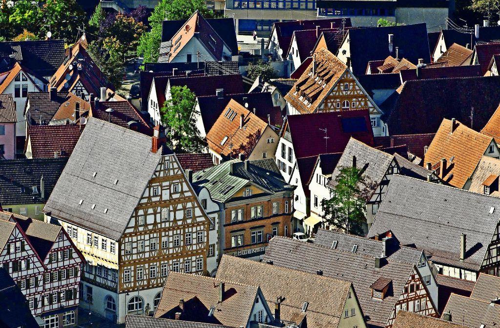 Direkt unter der Altstadt könnte ein Umgehungstunnel verlaufen. Foto: Stadt Leonberg