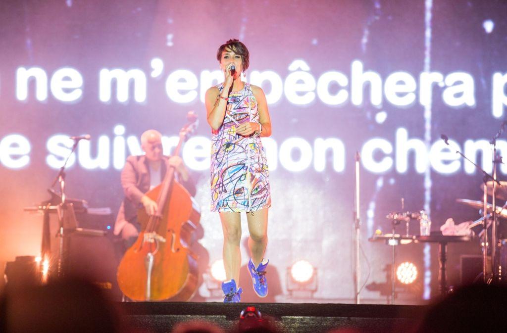 Ein kurzes Vergnügen: Zaz bei ihrem Auftritt in Ludwigsburg Foto: 7aktuell.de/Adomat