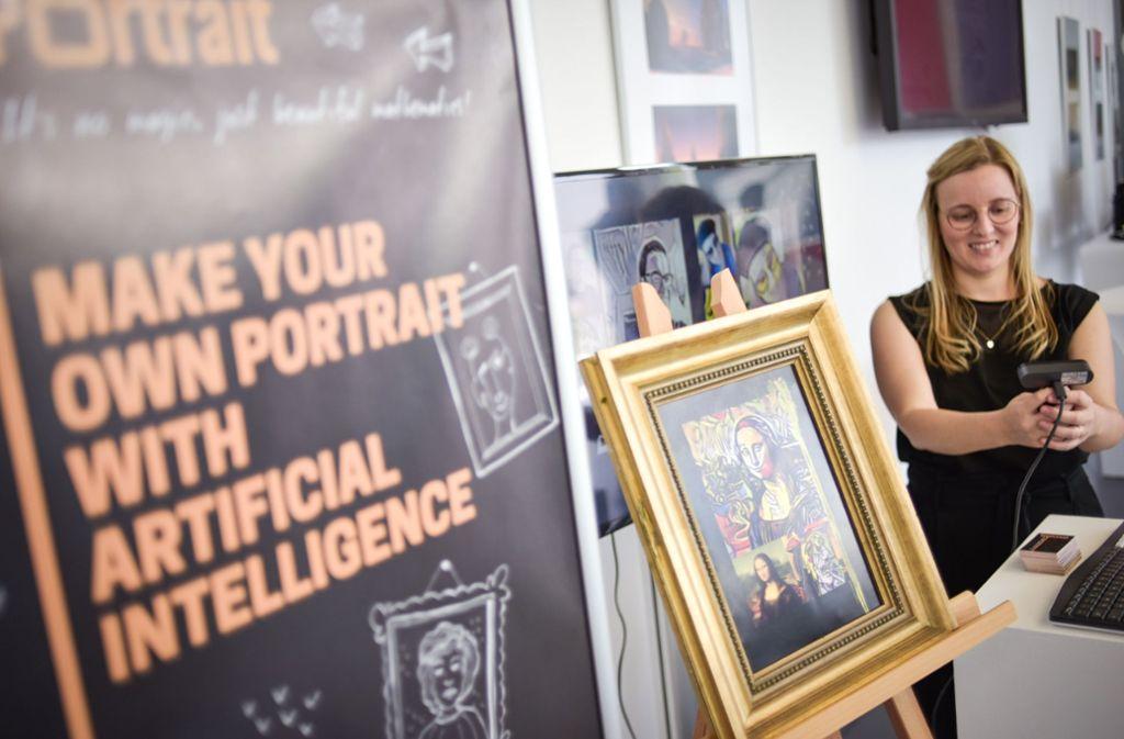 """Mona Lisa dank Algorithmus im Stil von Picasso oder Roy Lichtenstein – """"alles Mathematik"""", sagt die Studentin Ute Orner-Klaiber. Foto: Lg/Max Kovalenko"""