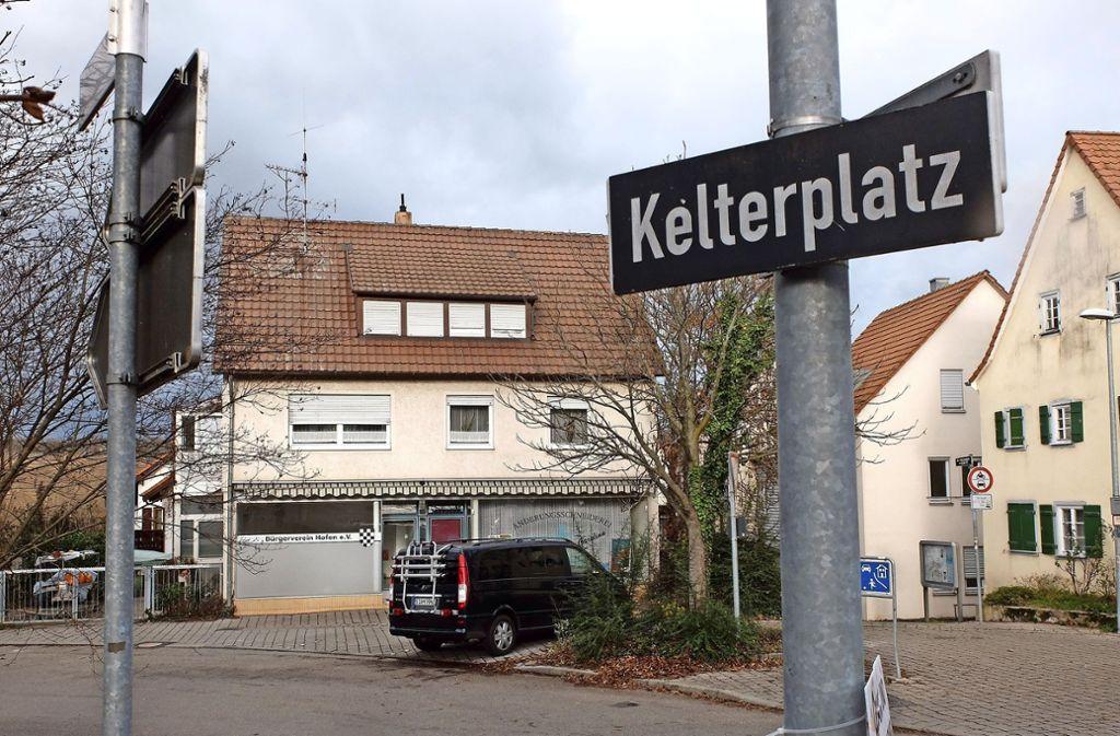 Der neue Treffpunkt des Bürgervereins  am Kelterplatz- Foto: Frey