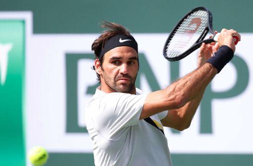 Tennis-Star Federer steigt im Achtelfinale ein