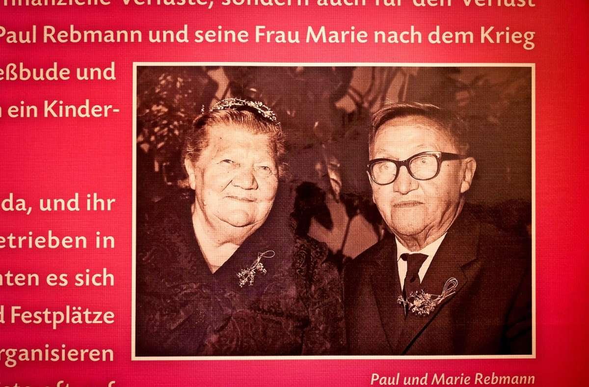 Das alte Foto zeigt das Ehepaar Paul und Marie Rebmann. Foto: factum/Simon Granville