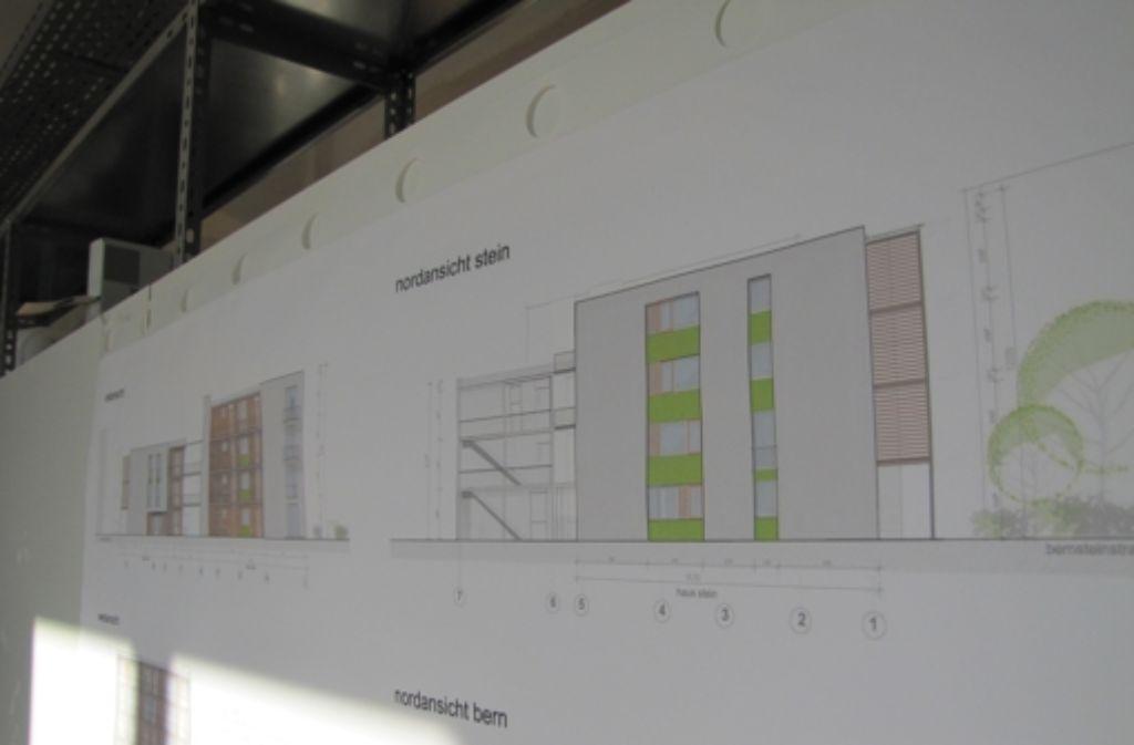 Die Seitenansicht der beiden geplanten Häuser Foto: Sägesser