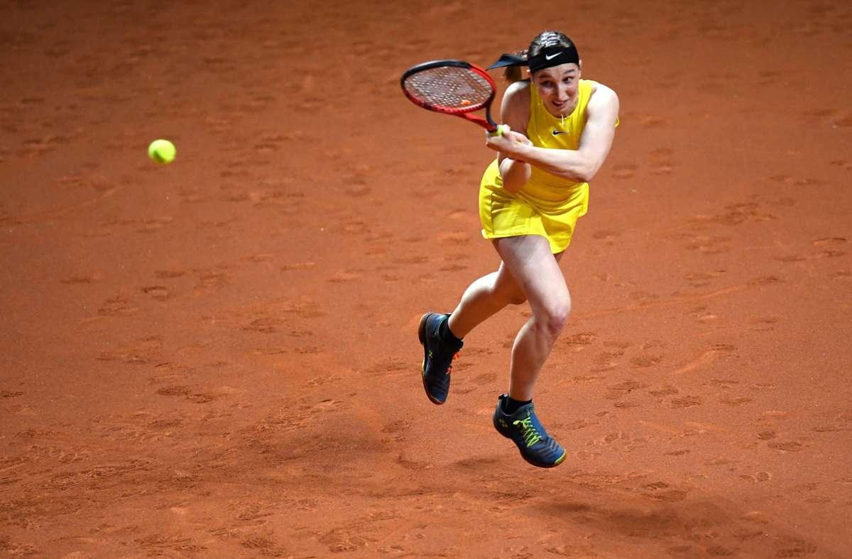 Tamara Korpatsch zeigte eine gute Leistung – schied aber dennoch aus. Foto: dpa/Thomas Kienzle