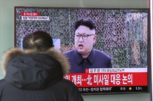 Kim Jong Un testet offenbar erneut ballistische Rakete