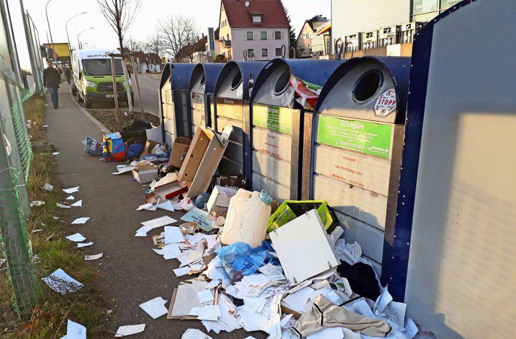 Illegal abgeladener Müll an der Zahn-Nopper-Straße ist ein Ärgernis –  nicht nur in Zuffenhausen. Foto: Torsten Ströbele