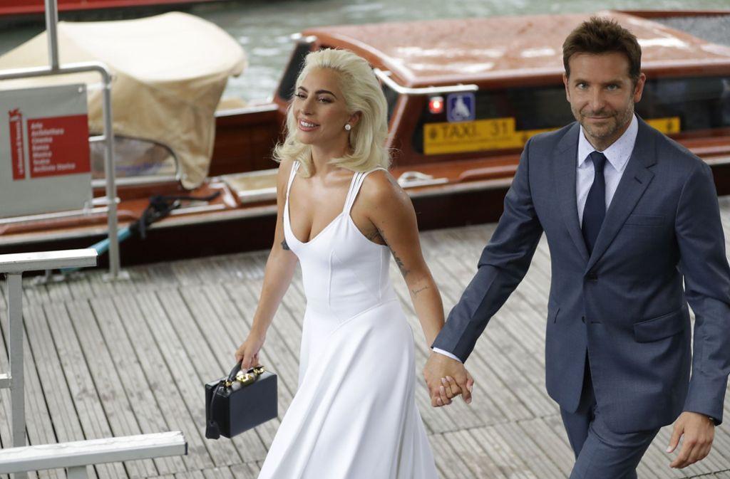 Sängerin Lady Gaga und Schauspieler Bradley Cooper beim Filmfestival in Venedig Foto: AP