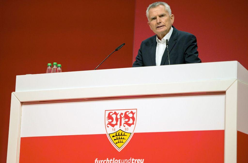 VfB-Präsident Wolfgang Dietrich hat sich zu möglichen VfB-Investoren geäußert. Foto: dpa