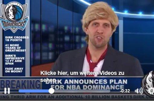 Dirk Nowitzki parodiert Donald Trump