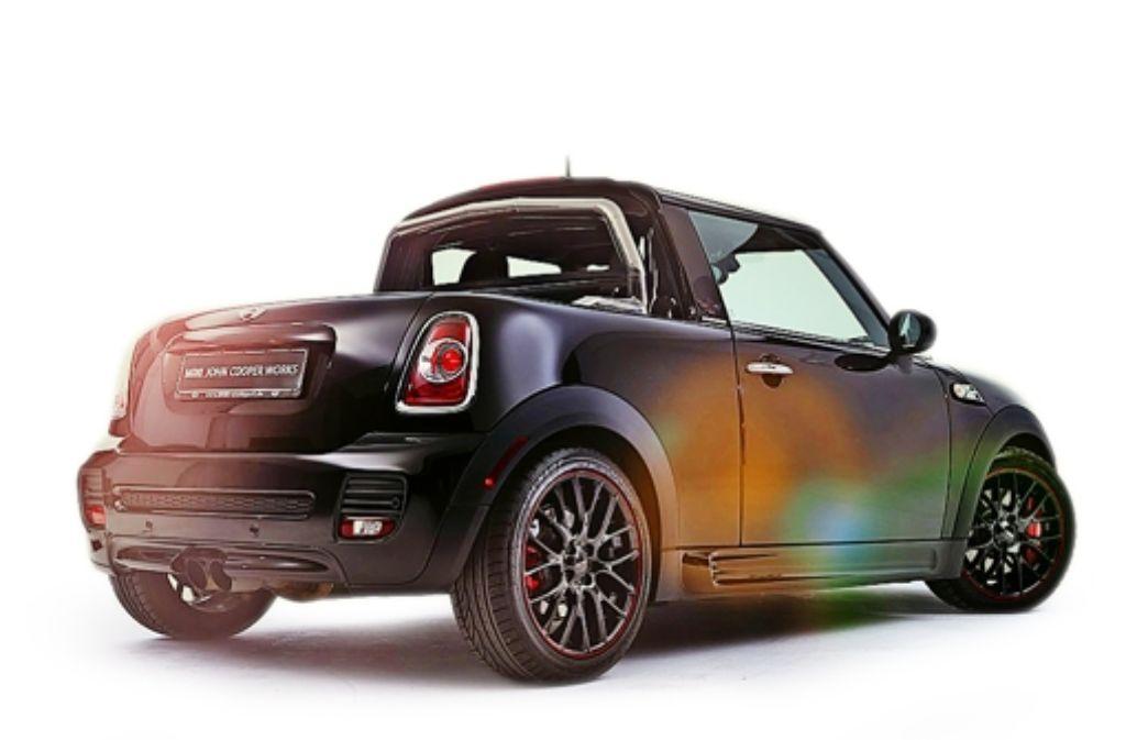 Nach dem Umbau strahlt der einzigartige Mini Pick-up in neuem Glanz. Foto: