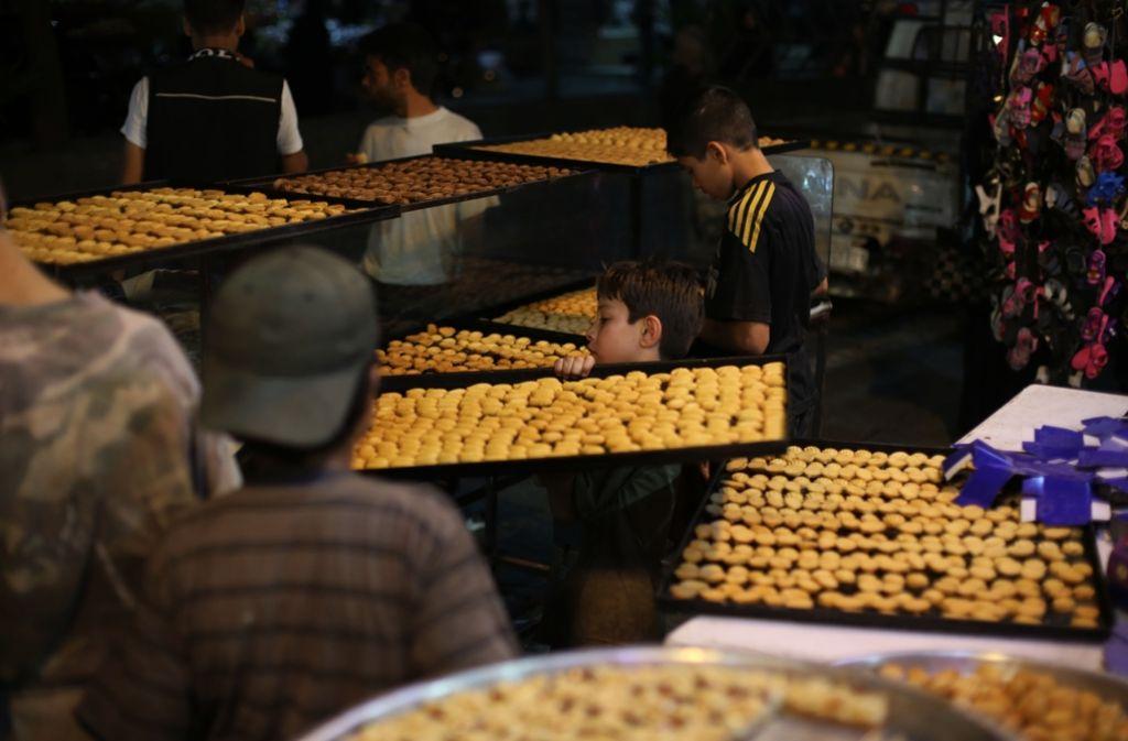Auch in Syrien bereiten sich die Bäckerein auf einen Ansturm zum Fastenbrechen vor. Foto: AFP
