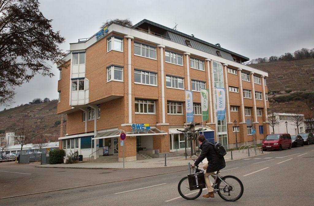 Rund um das Verwaltungsgebäude der Stadtwerke soll hochwertiger Wohnraum entstehen. Foto: Ines Rudel