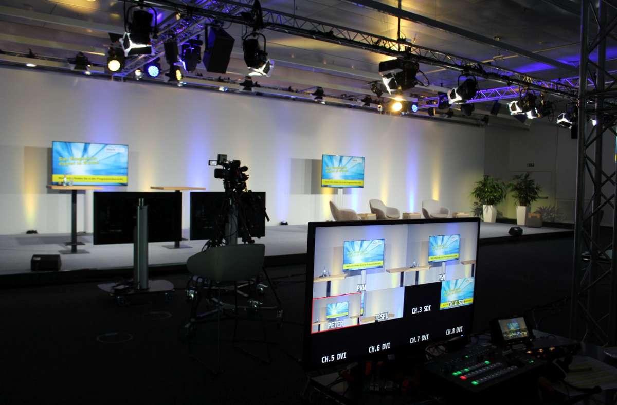 Das Studio L ist das  größte von drei Studios der Landesmesse Stuttgart. Foto: Jacqueline Fritsch