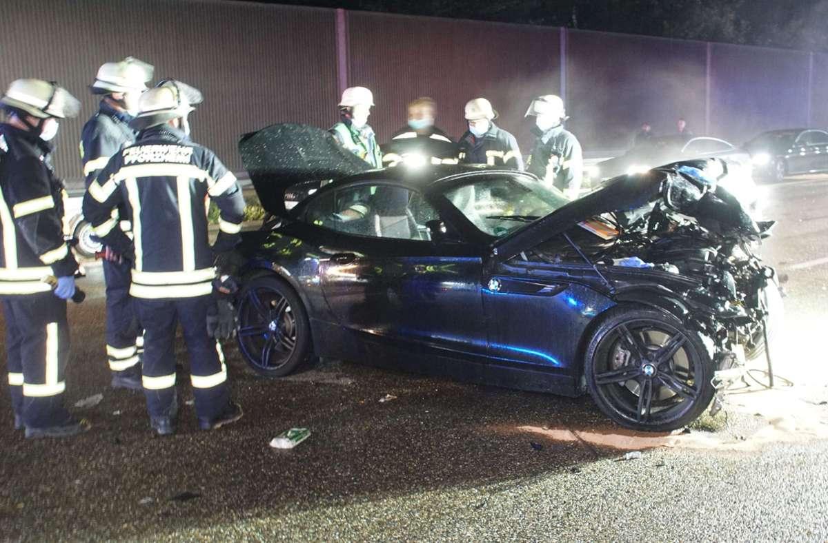 Auf der Autobahn 8 ist es in der Nacht zum Sonntag zu einem Unfall gekommen. Foto: SDMG/Gress