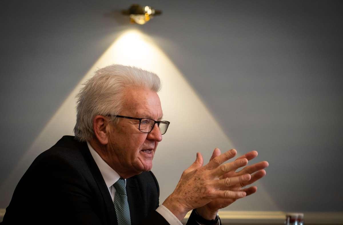 Winfried Kretschmann hat seine  Öffnungsstrategie erläutert. (Archivbild) Foto: Lichtgut/Achim Zweygarth/Achim Zweygarth