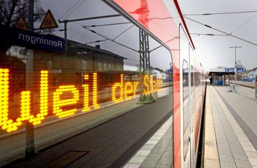 Die Region Stuttgart will die S-Bahn nach Calw