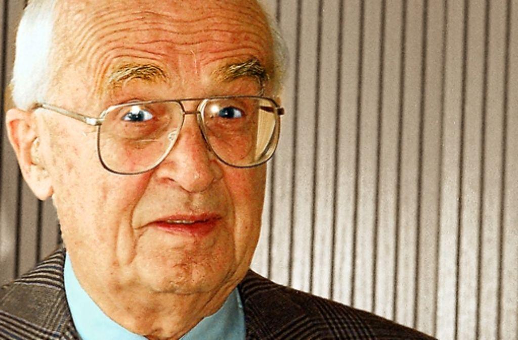 Der Flugzeugpionier Ludwig Bölkow wurde am 30. Juni 1912 geboren. Foto: dpa