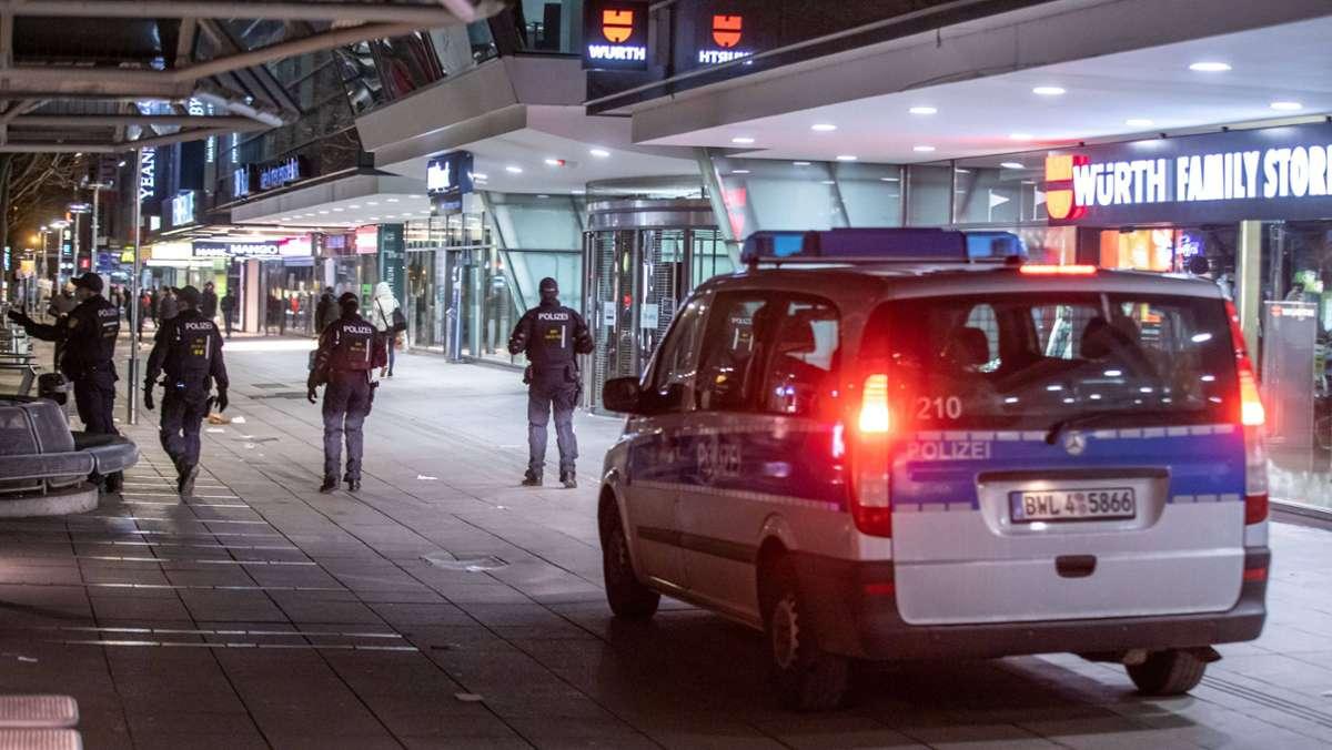 Polizeieinsatz und Festnahmen am Schlossplatz