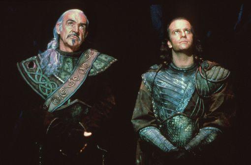 """Haben sich in Asperg bislang nicht angekündigt: die """"Highlander""""-Darsteller Sean Connery und Christopher Lambert. Foto: dpa"""