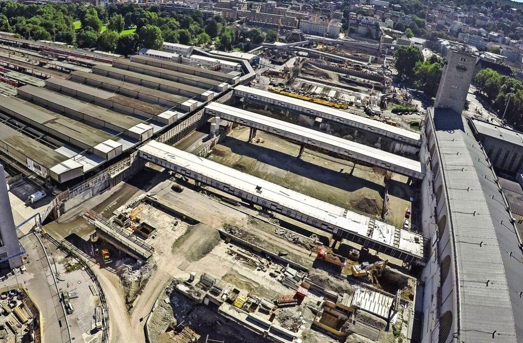 Im September ist der Grundstein für den neuen Bahnhof gelegt worden. Das Bauvorhaben könnte bis 2024 dauern. Foto: dpa