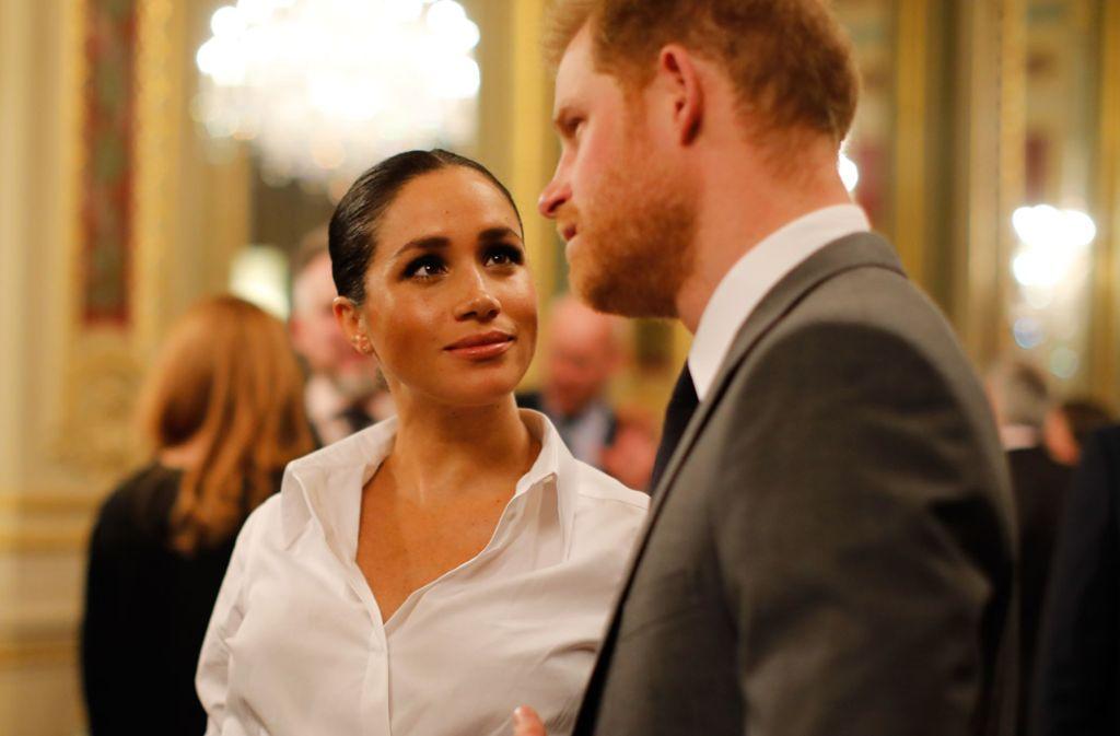 Herzogin Meghan und Prinz Harry zeigen sich bei den Endeavour Fund Awards in London. Foto: Getty Images Europe