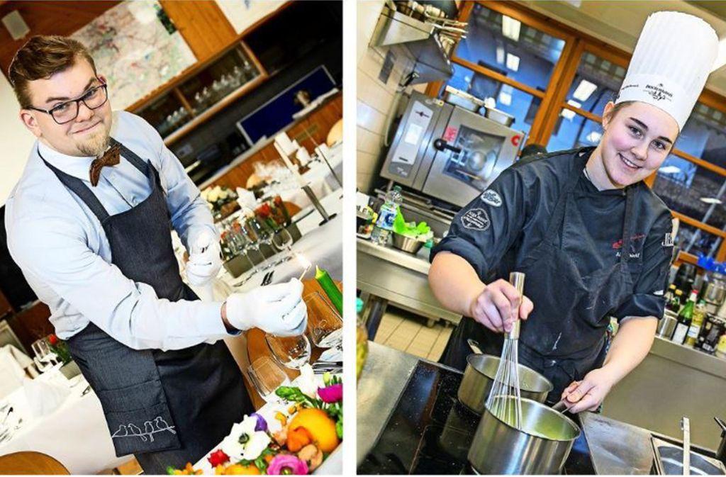 Die beiden Pokalsieger: Simon Dehmer im Service und Alina Wolf in der Küche. Foto: Horst Rudel