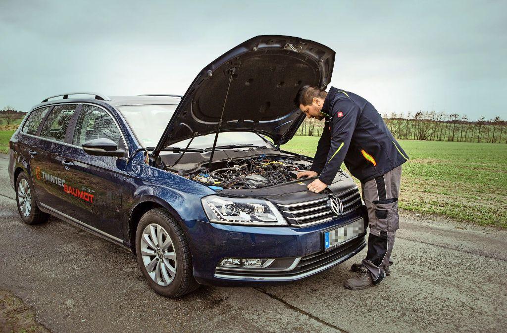 Baumot hat seinen Katalysator in einen VW Passat eingebaut und mehrfach testen lassen. Foto: Baumot