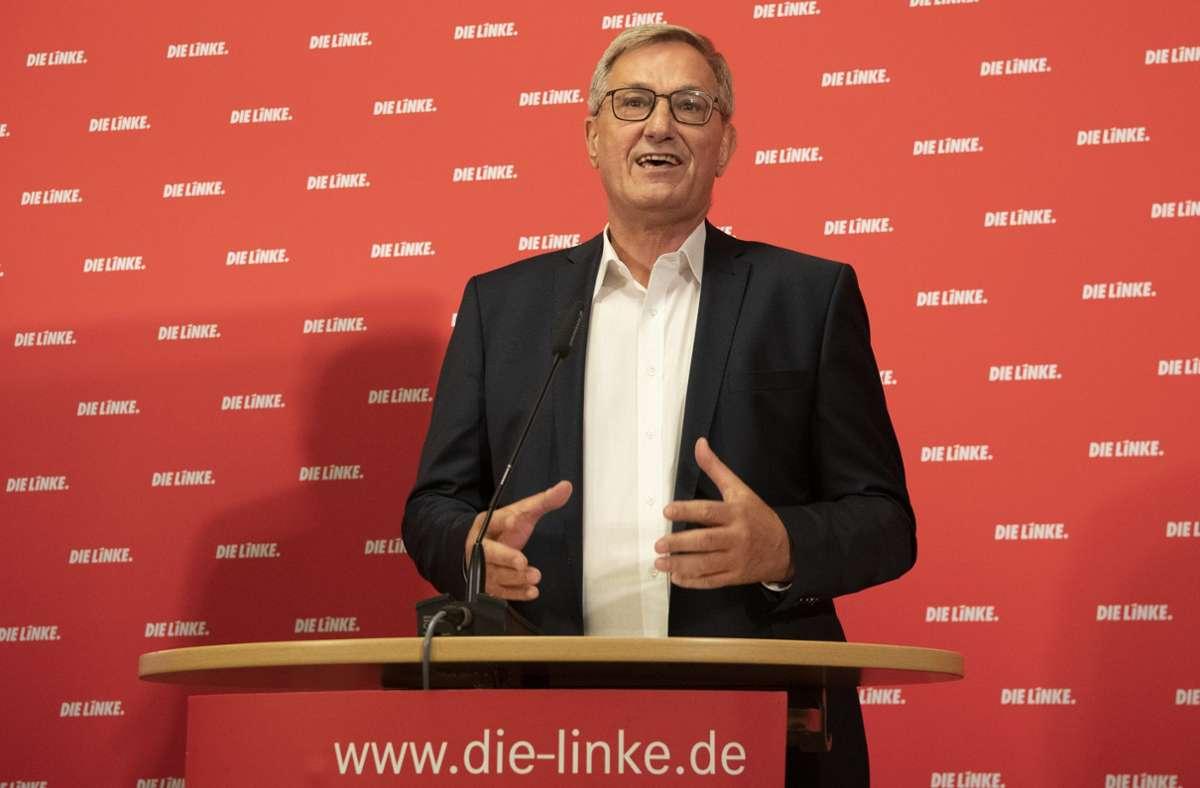 Bernd Riexinger, der Vorsitzende der Linkspartei, findet für seinen Vorstoß zur Ausweitung der Mitbestimmung Zustimmung bei Grünen und SPD. Foto: dpa/Paul Zinken