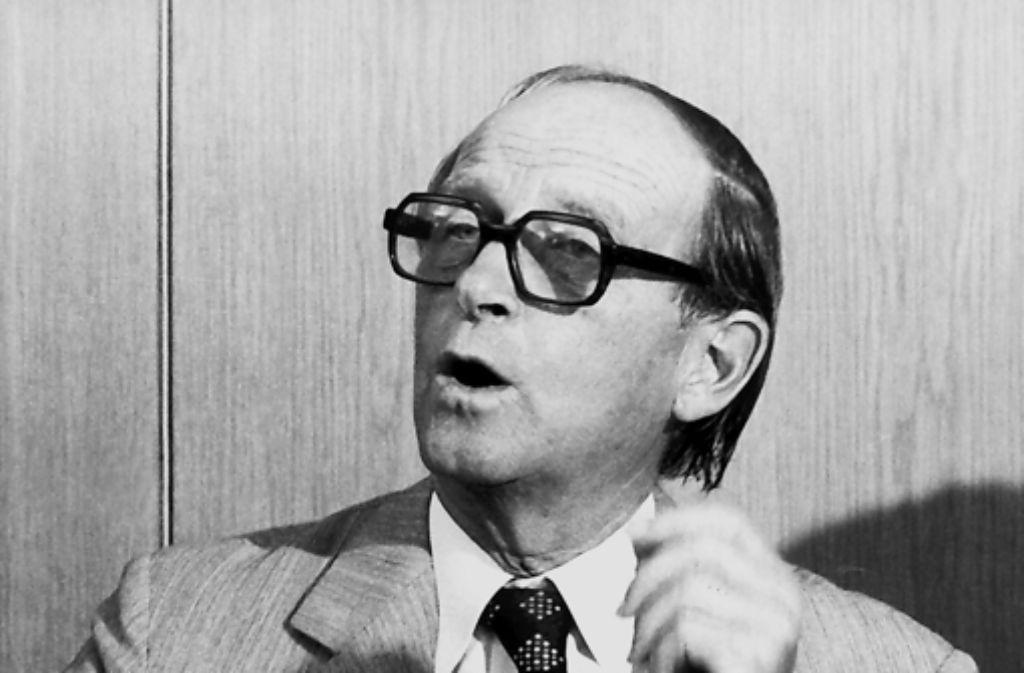 In die Amtszeit des baden-württembergischen Ministerpräsidenten Hans Filbinger fiel der sogenannte Radikalenerlass. Foto: dpa