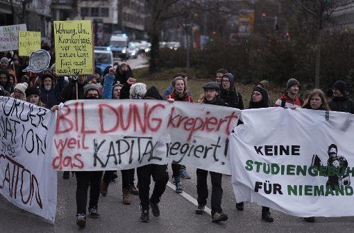 Aufruf zu Protesten gegen geplante Studiengebühren