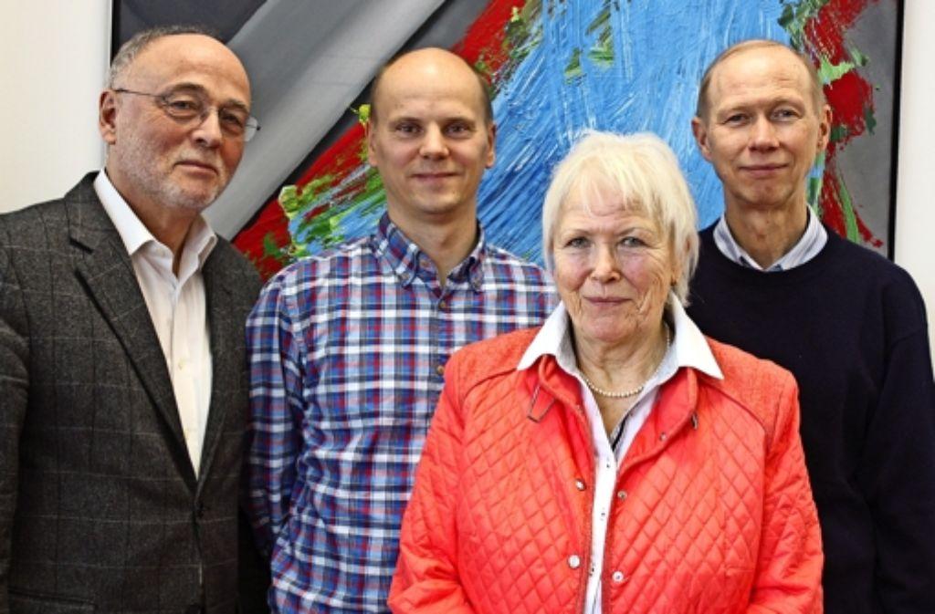 Hans-Peter Ehrlich, Björn Selent, Ingrid Schulte und Dieter Bernhardt (von links) haben 2015 viel vor. Foto: Rebecca Stahlberg