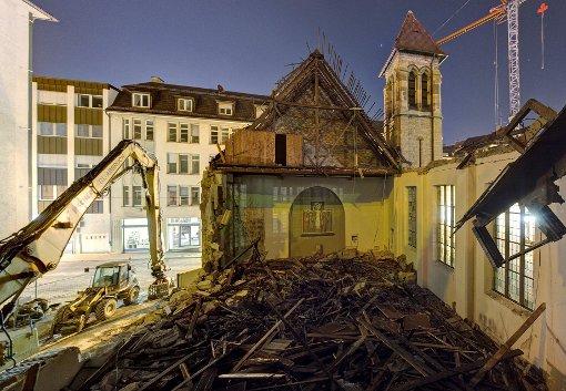 In Kürze wird das Gotteshaus ganz verschwunden sein. Foto: Josh von Staudach / www.stuttgart360.de