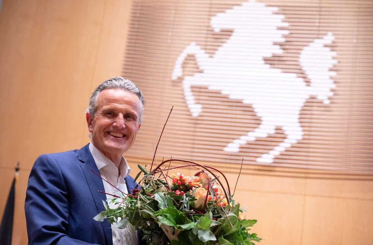 Am kommenden Donnerstag wird Frank Nopper (CDU) offiziell die Nachfolge von Fritz Kuhn antreten. Der Rahmen der Amtseinsetzung fällt pandemiebedingt eher schlicht aus. Foto: dpa/Sebastian Gollnow
