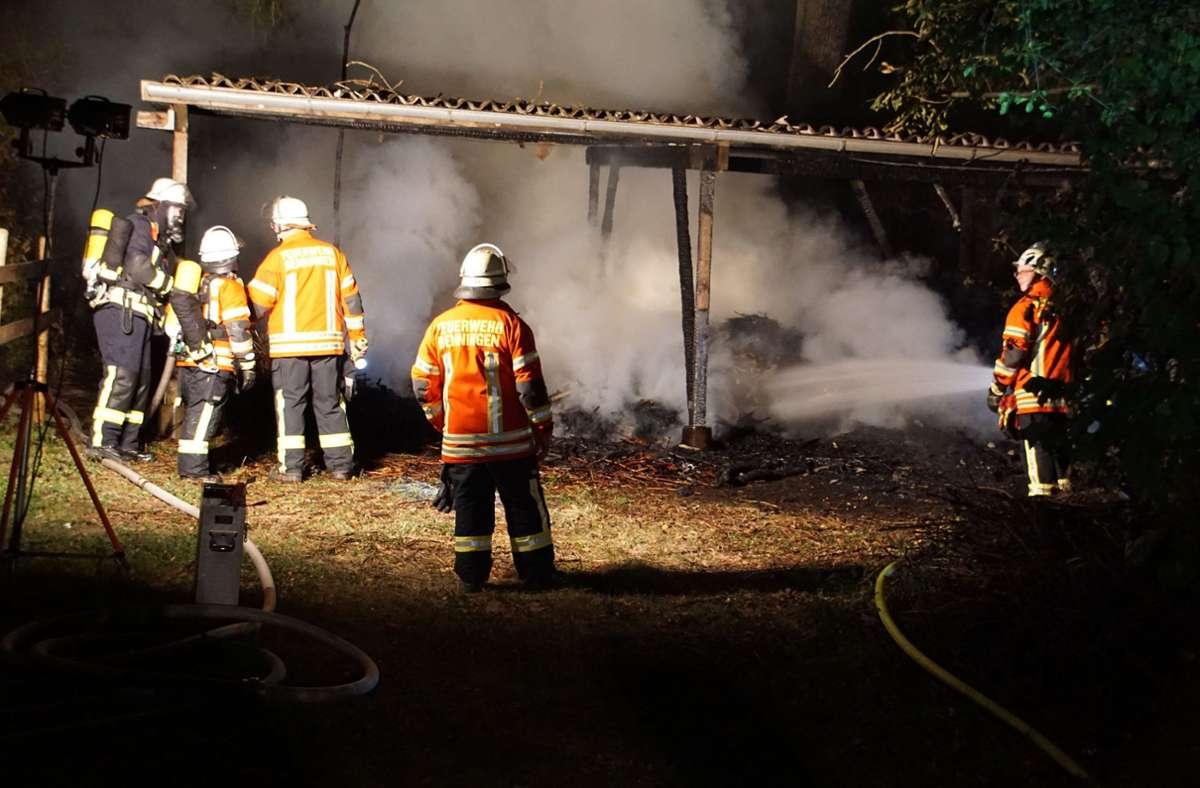 Die Feuerwehr Benningen im Einsatz. Foto: SDMG/SDMG / Hemmann