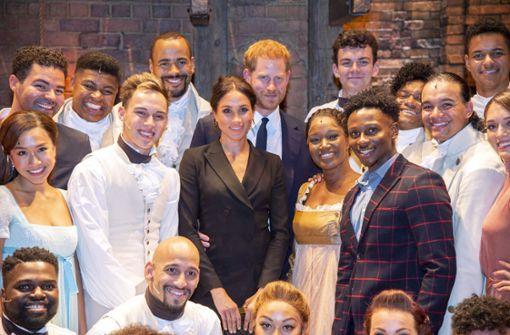 """Royals statten dem Musical """"Hamilton"""" einen Besuch ab"""