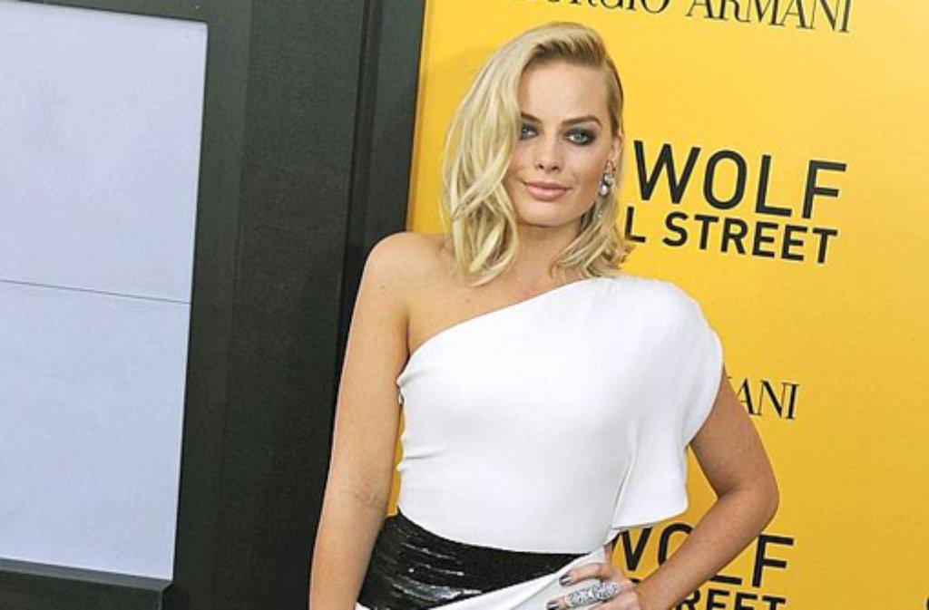 Die australische Schauspielerin Margot Robbie, die in The Wolf of Wallstreet die Rolle der Naomi Lapaglia übernimmt, war auch zur Premiere angereist. Foto: dpa