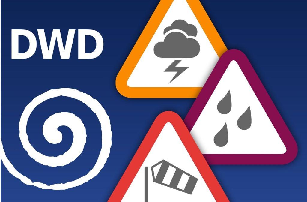 Das Logo der Warn-App des Deutschen Wetterdienstes. Foto: Archiv
