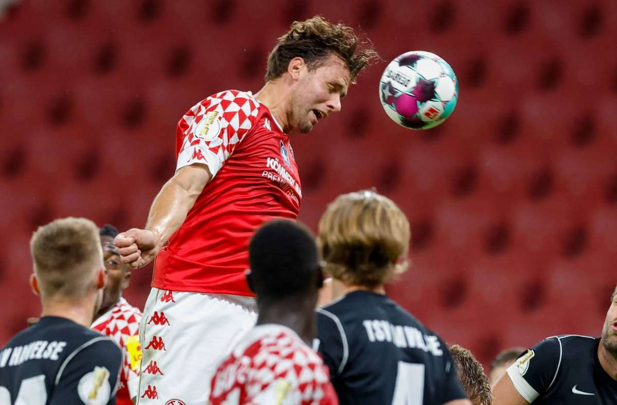 Adam Szalai war im Pokal noch Torschütze für den 1. FSV Mainz 05 Foto: imago/Jörg Halisch
