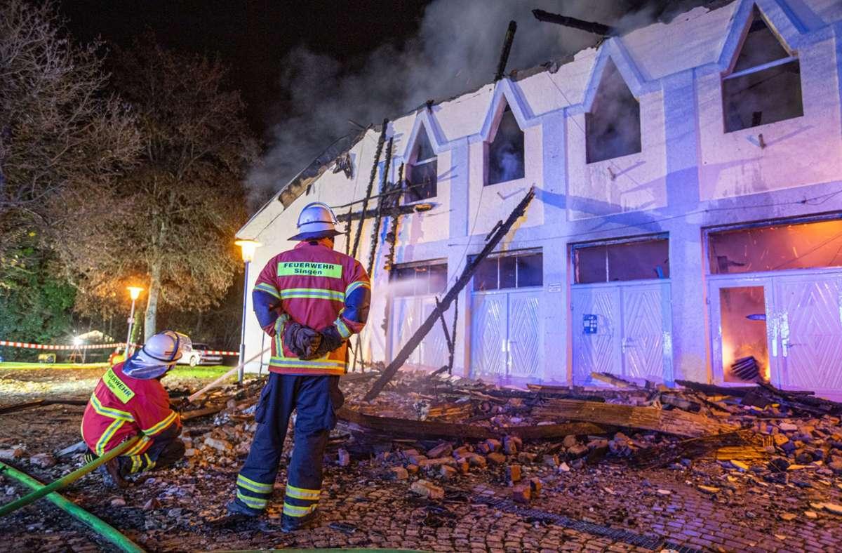 Folgenschwerer Brand in Singen am Hohentwiel Foto: dpa/Simon Adomat