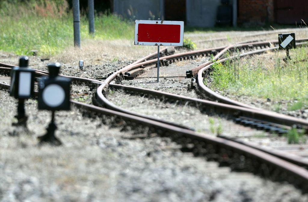 Die Deutsche Bahn hat über 5400 Kilometer Schienennetz stillgelegt Foto: dpa
