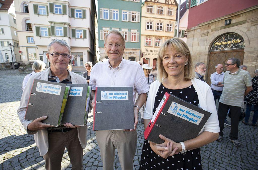 Klaus Hummel, Wolfgang Drexler und Ulrike Gräter kämpfen für den Bebenhäuser Pfleghof. Foto: Steinert