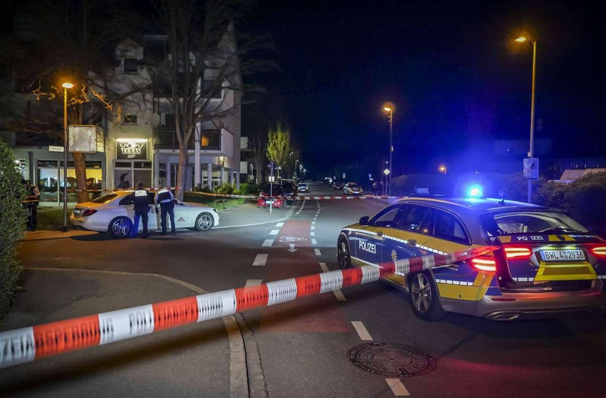 Schießerei in Schönaich: Im April 2019 wurde einer der Angeklagten vor seiner Bar Texas Lounge schwer verletzt. Foto: 7aktuell.de/Alexander Hald