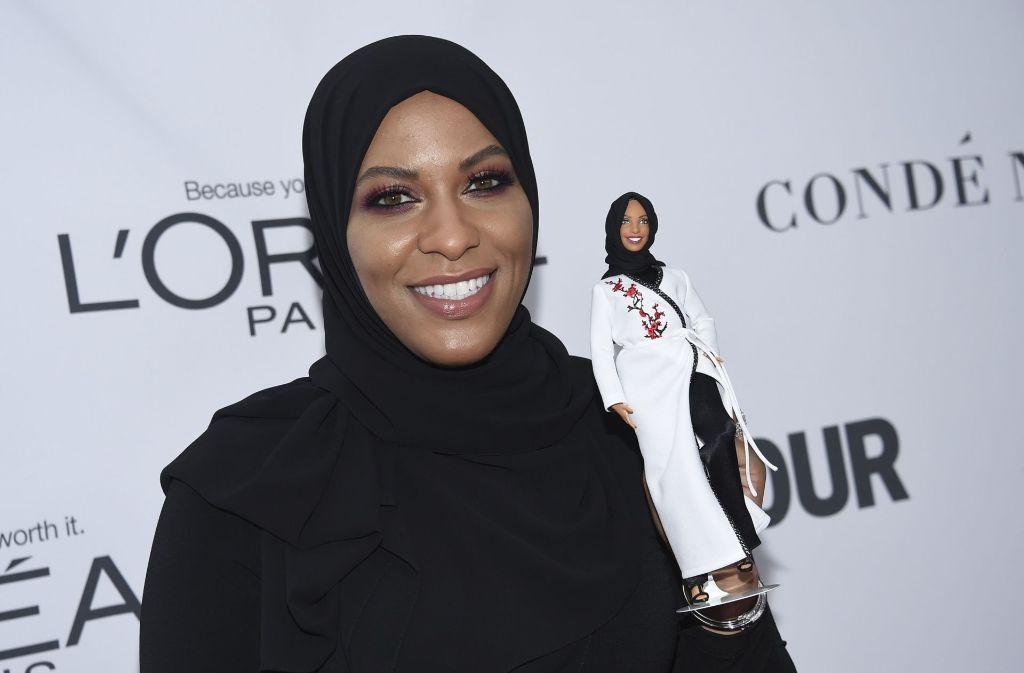US-Hersteller Mattel hat die Fertigung einer Puppe angekündigt, die nach der amerikanischen Säbelfechterin Ibtihaj Muhammad entworfen wird. Foto: Invision/AP