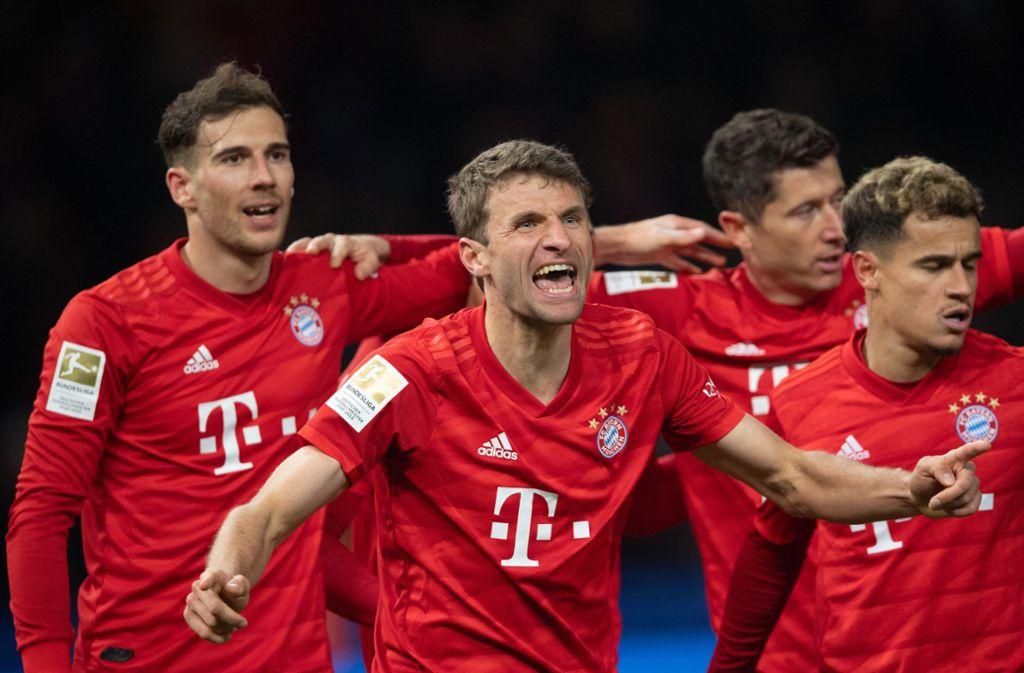 Thomas Müller besorgte das wichtige 1:0 für die Bayern. Foto: dpa/Soeren Stache